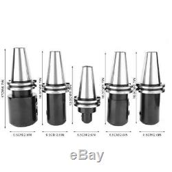 5 Pcs CAT Collet Chuck End Mill Holders Holder Set Hardened Ground Cutter Tool