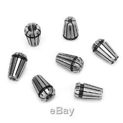 7PCS ER11 1-7mm Spring Collets Set ER11 5mm Motor Shaft Holder Extension Rod for