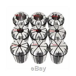 9pcs ER32 Spring Collet Set for CNC Workholding Engraving Machine and Milli G6F2
