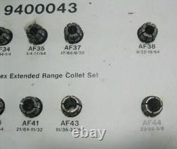 AF COLLET SET. 20 pcs UNIVERSAL HOUDAILLE. 1/16 3/8 range