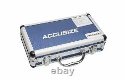 AccusizeTools 18 Pcs ER32 Collet Set 3/32'' to 25/32'' in Fitted Strong Box