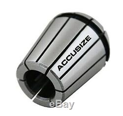 Accusize R8 Shank + 15 Pcs ER40 Collet Set + Wrench in Fitted Strong Box, 0223