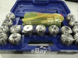 Accusize R8 Stem + 15 Pcs ER40 Collet Set + Key in Fitted Safe, # 0223 0984