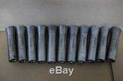 BRIDGEPORT R8 COLLET SET (11 Pcs.) Made in USA