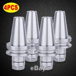 BT40 ER20 2.75 70 4PCS SET Collet Chuck Tool Holder 20000RPM For CNC Milling US