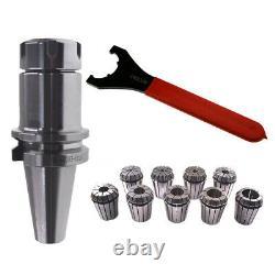 BT40 ER32 100 Collet Chuck Tool Holder 9PCS Set ER32 Precision Spring Collet