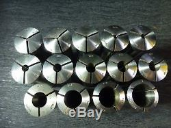 """New 8pcs R8 Round Collet Set 1//8/"""" 1//4/""""  3//8/"""" 1//2/""""  5//8/"""" 3//4/"""" 7//8/"""" and 1/"""""""