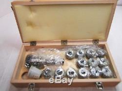 Bison 7-171-4108 NMTB 40 Shank ER40 Collet Chuck Set 17pcs self-releasing system