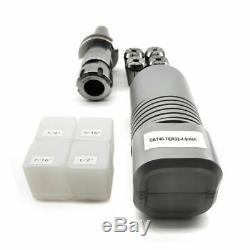 CAT40 ER32 Floating Tap Tool Holder with 4pcs Collet Chuck Set 4 Lathe Holder