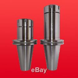 CAT50 ER40 Precision Collet Chucks 2 Pcs w Proj. 4-6 Balanced G2.5 @10,000 RPM