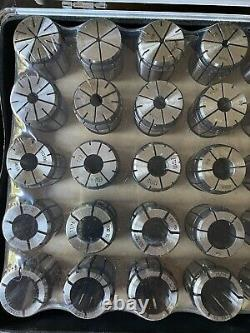 COLLET SET 30PCS With SILVER CASE, SEALED, NEVER OPEN THE PLASTIC COVER, ALL SIZES