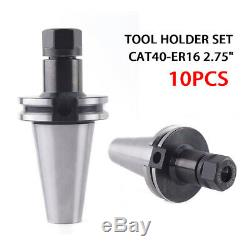 Collet Chuck, 10PCS Precision Collet CHUCK CAT40-ER16 2.75 Tool Holder Set UPS