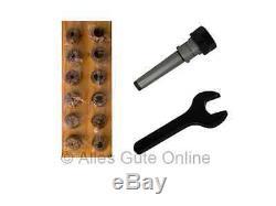 Collet Chuck MT1 (MS1) M6 ER20 + ER20 Collet Set 12pcs. HL + Wrench A #900