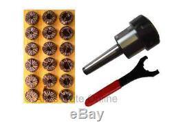 Collet Chuck MT1 (MS1) M6 ER32 + ER32 Collet Set 18pcs. HL + Wrench UM #900