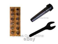 Collet Chuck MT3 M12 ER20 + ER20 428E Collet Set 12pcs. HL + Wrench A #890