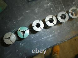 Collets Hardinge R8 Set Of 6 Pcs, 1/4 To 7/8 Free Shipping