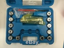 DEMO- 12 Pcs/Set ER32 Collet + R8 Bridgeport Shank + Wrench in Fitted Box