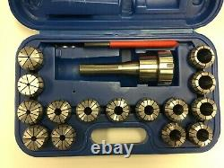 DEMO-R8 Shank + 15 Pcs/Set ER40 Collet Set + Wrench in Fitted Strong Box