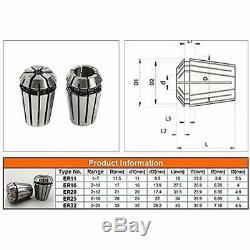 ER11 Collet Set, 13PCS Chuck CNC Spindle ER-11 Lathe Tool Holder From 7MM For