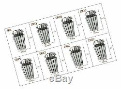 ER11 Collet Set, 13 PCS ER11 Collet Chuck 1-7MM ER-11 Spring Collet for CNC E