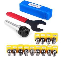 ER20 Collet Set Chuck with MT2 ER20 M10 Motor Extension Rod, craftsman168 13pcs