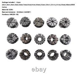 ER25 Spring Collet Set For CNC Engraving Machine & Milling Lathe Tool 15PCS