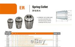 ER32 (18Pcs) Collet Set Metric Size High Precision Spring Clamping Collet