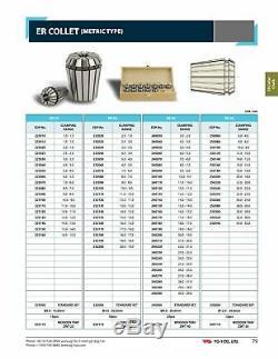ER32 20pcs Metric Size Collet Set 2.0mm 20.0mm x 1mm by YG1, High Quality