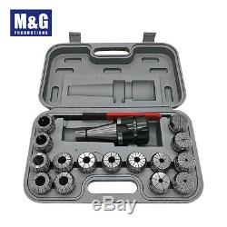 ER40 Collet Set, 15pcs/set(3-26mm)With NT30 Shank and wrench