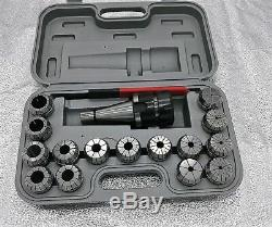 ER40 Collet Set, 15pcs/set(3-26mm)With NT40 Shank and wrench