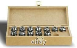 ER50 16pcs Metric Size Collet Set 12.0mm 34.0mm by YG1, High Quality