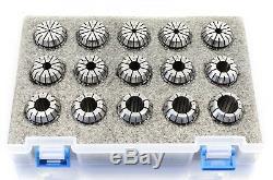 FP, (AK)(ECO) ER16 ER20 ER25 ER32 ER40 7-18pcs COLLET SET 0.015 runout