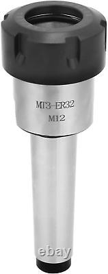 Fafeicy MT3 Shank With 6PCS ER32 Collet Set, 1pc MT3 ER32 M12 Collet Chuck Morse
