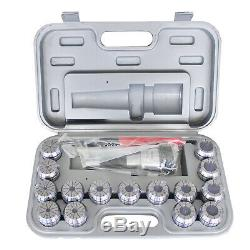 HFS(R) R8 Shank + 15 Pcs ER40 Collet Set + Wrench in Fitted Strong Box