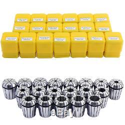 HSEAMALL 19PCS ER32 Precision Spring Collet Set, 2mm-20mm ER32 Collet Chuck for &