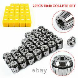 High Precision ER40 Spring Collets With 29 PCS collets Set for CNC Milling Tool