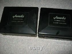 Jacobs Rubber Flex Collets, 2 Sets, 1/16-1-3/8, Lot 17 Pcs, 4 Plugs, Very Clean