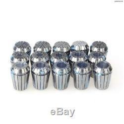 Kilowood ER25 Collet 15PCS SET Ultra Precision 1/16 3/32 1/8 3/16 7/32 1/4 5/16