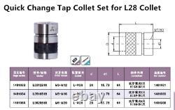 L0312B16-6Pcs (ISO M3-M12) Set B16 Taper Mounted Quick Change Tap Collet Chuck