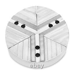 Lathe Chuck Serrated 1.5 mm x 60 Full Grip Round Pie Soft Jaws Set 3 Pcs, Steel