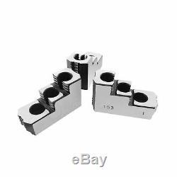 Lathe Chuck Serrated (1.5 mm x 60) Steel Hard Jaws Set (3 Pcs) for 10 Kitaga