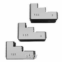 Lathe Chuck Serrated 1.5 mm x 60 Steel Hard Jaws Set 3 Pcs for 12 Kitagawa