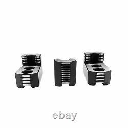 Lathe Chuck Serrated (1.5 mm x 60) Steel Hard Jaws Set (3 Pcs) for 6 Kitagaw
