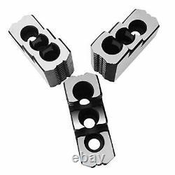 Lathe Chuck Serrated 1.5 mm x 60 Steel Hard Jaws Set 3 Pcs for 8 Kitagawa B