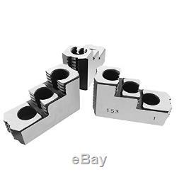 Lathe Chuck Serrated 1.5 mm x 60 Steel Hard Jaws Set 3 Pcs for 8 Kitagawa By