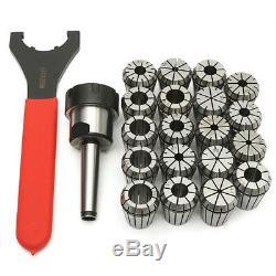 MT2 ER32 M10 Collet Chuck Milling Tool Holder with 19Pcs ER32 Spring Collets Set
