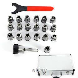 MT2 ER32 M10 Spring 19 Pcs Collets Set For CNC Milling Lathe Engraving Machine