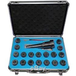 MT3 ER32 Collet Chuck Tool Holder Set 18 Pcs Collets