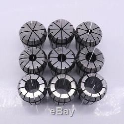 MT3-ER32-M12 Collet Chuck Morse Taper Holder Milling Chuck Holder 9Pcs/set