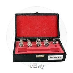 Metaltech Tools, Collet Set ER16, 9 pcs Imperial 1/8 to 3/8 Standard, 410-9150